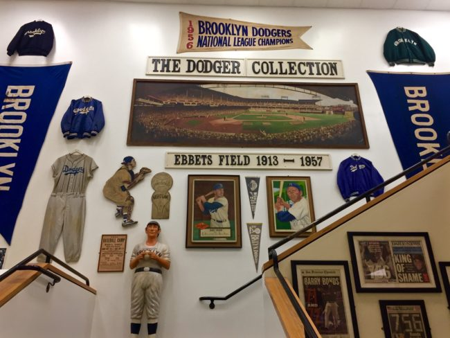 Brooklyn Dodgers Memorabilia Sports Museum Los Angeles