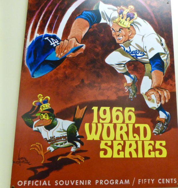 1966 World Series Program Sports Museum Los Angeles
