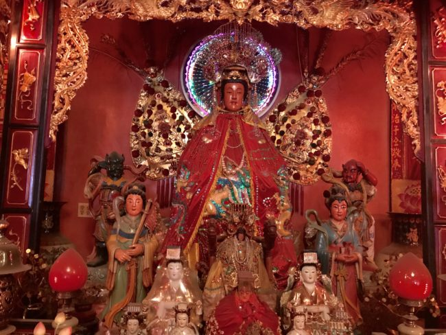altar for Mazu thien hau temple los angeles