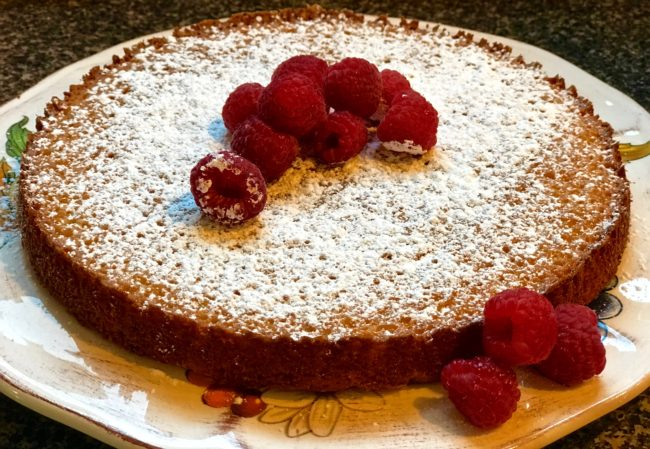 Almond Tart Recipe with Raspberry Sauce