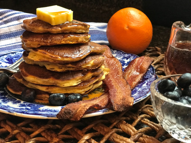 Blueberry Buttermilk Pancakes Recipe with Grand Marnier