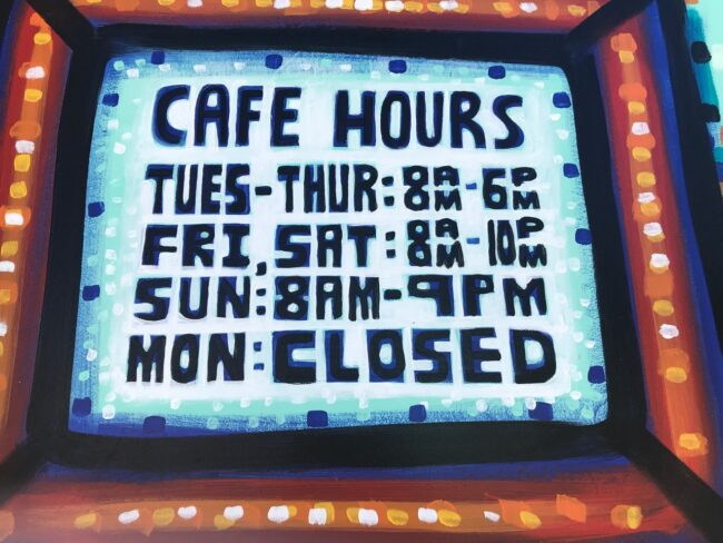 Spoke Bicycle Cafe Hours