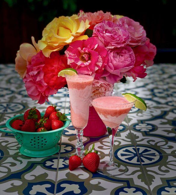 Strawberry Leche de Madre Cocktails