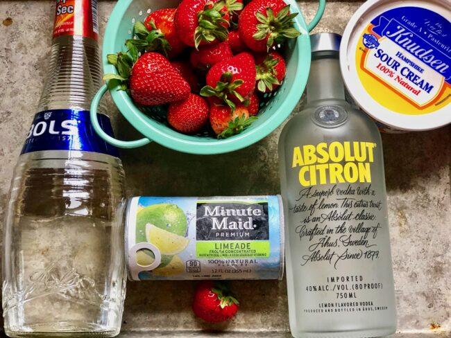 Strawberry de Leche de Madre Ingredients