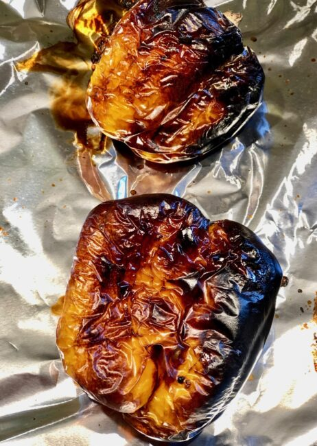 Charred Yellow Peppers