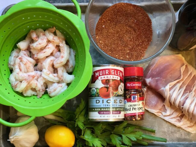 Additional Spanish Style Shrimp Ingredients