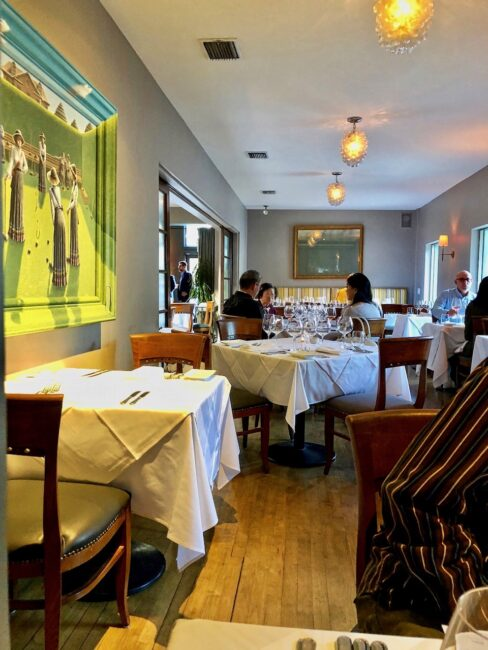 Bistro 45 Indoor Dining Area