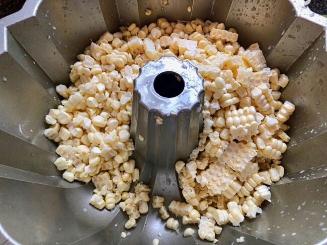 corn kernels for corn and clam chowder