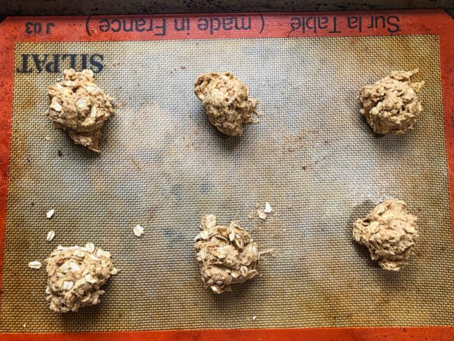oatmeal spice cookie dough portions