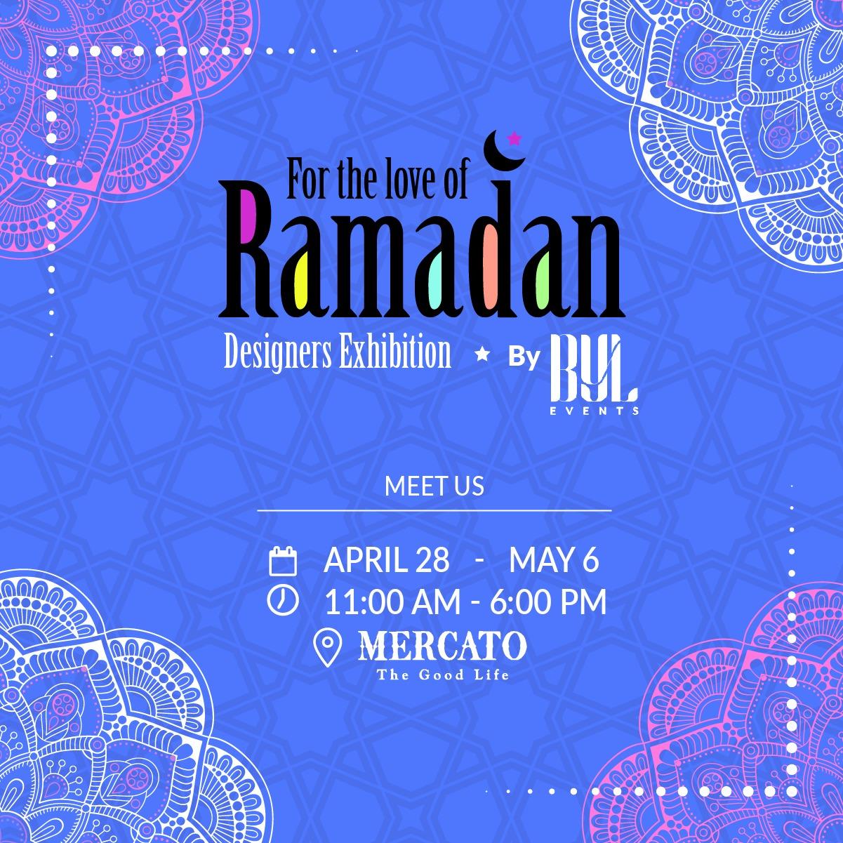 """For the Love of Ramadan"" معرض يجمع مصممين من العالم العربي ويتيح فرصة التسّوق للزائرين ضمن أجواء رمضانية مميزة في مركاتو مول دبي!"