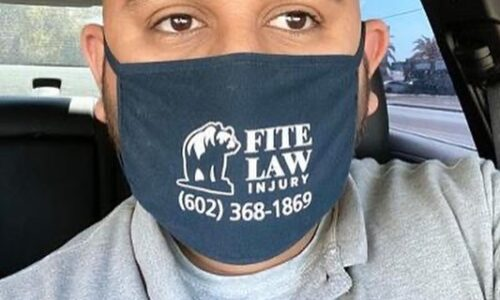 FLG clients wearing face masks
