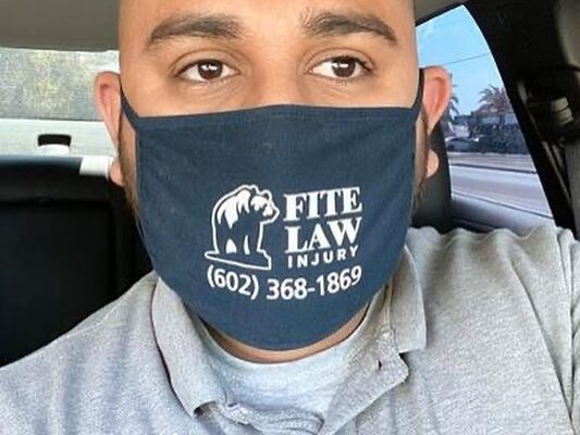 FLG clients wearing face masks