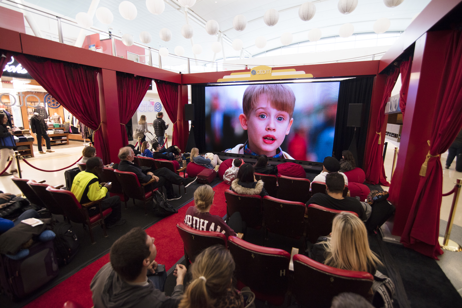 home alone atom pop up theater