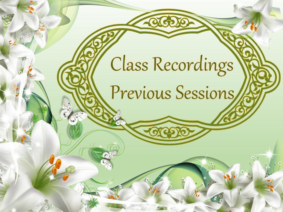 Previous Recordings