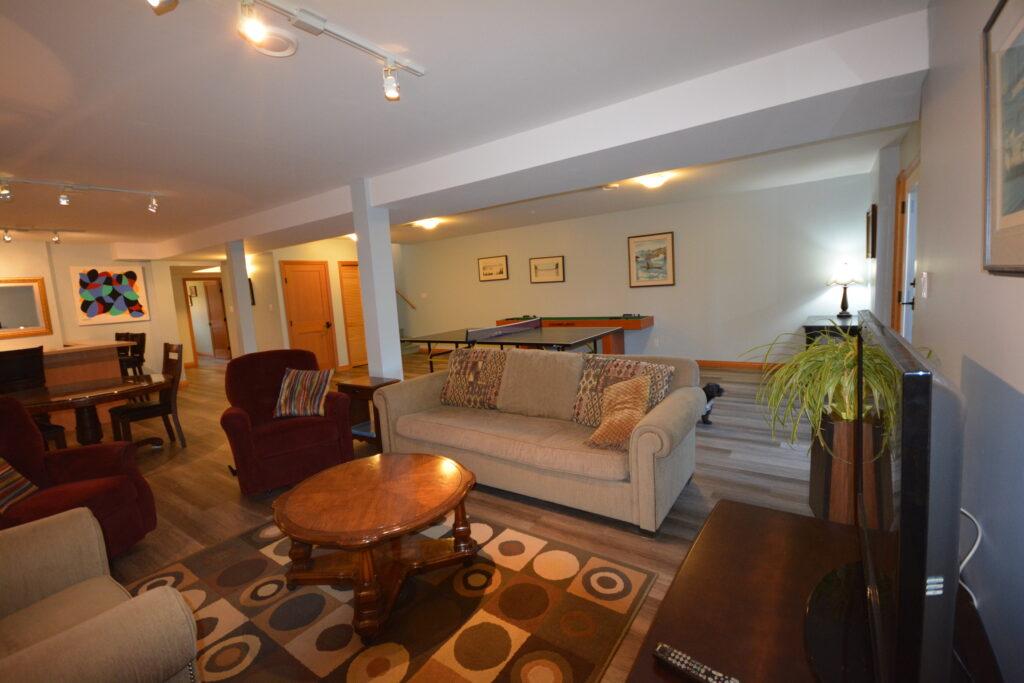 Lower level rumpus room