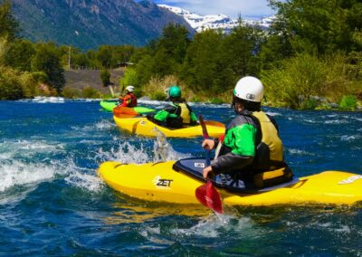 Chile whitewater kayaking Trancura Delta