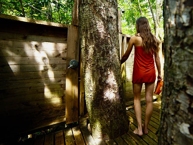 Tree House Shower