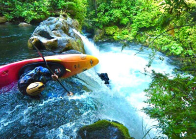 kayaking chile palguin waterfall