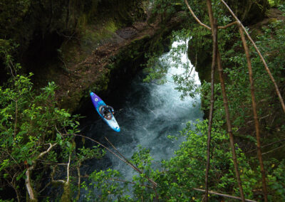 Kayaking Palguin Land Bridge in Chile