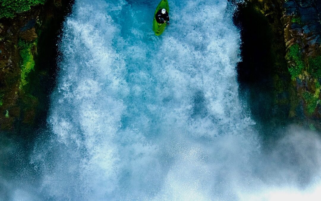 Kayaking Chile Fuy River Waterfall