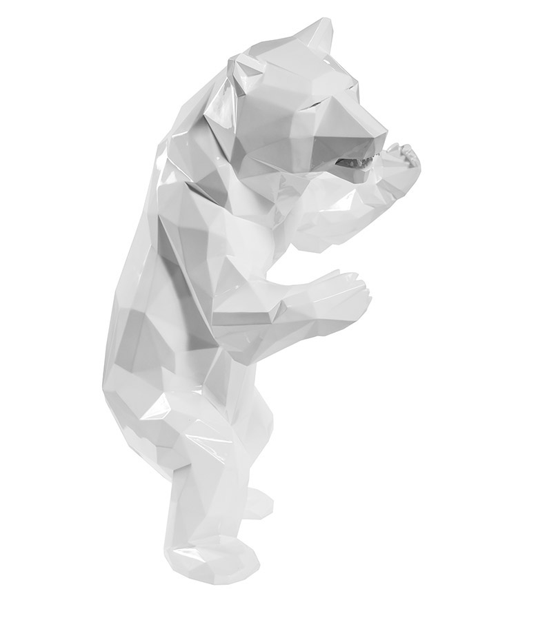 shiny-white-standing-bear