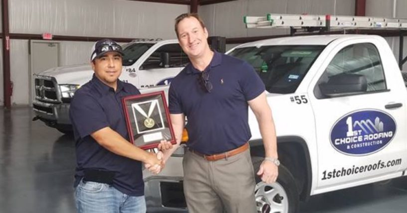 Versico Gold Medal Quality Roofing Award