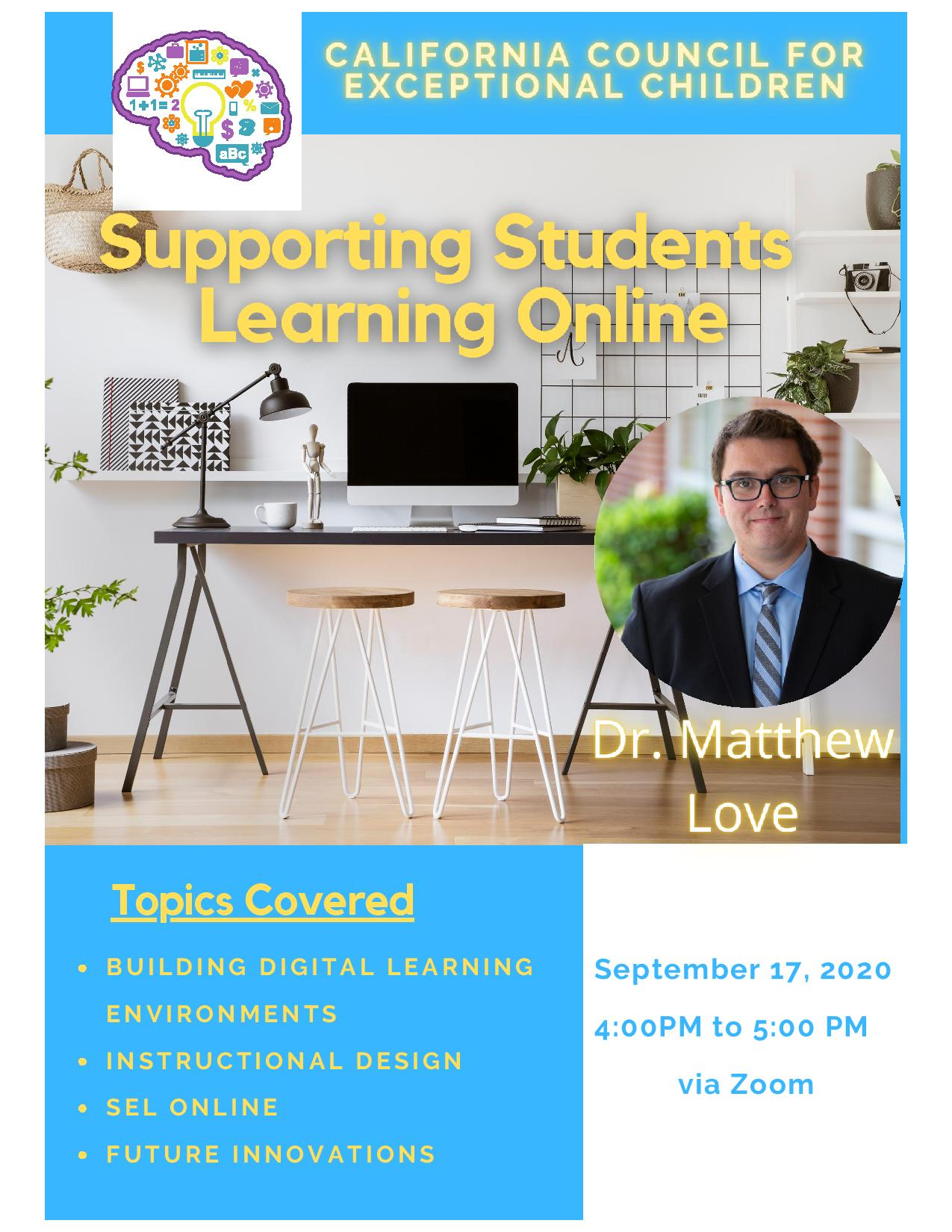 Supporting Students Learning Online