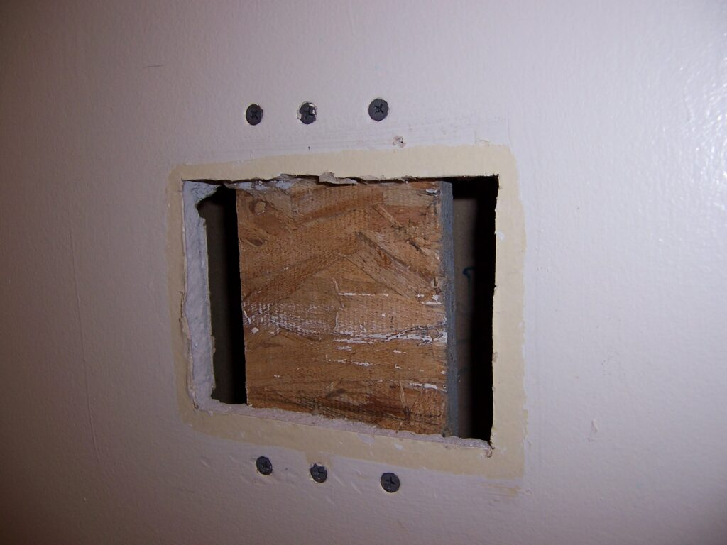 large hole drywall repair