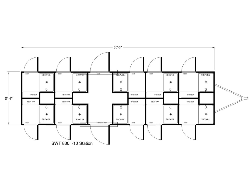 10 STATION SHOWER TRAILER FLOOR PLAN