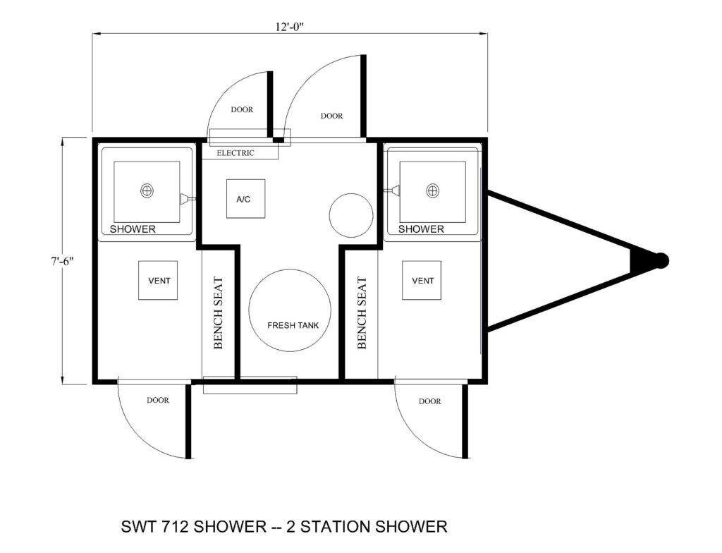 TWO STATION SHOWER TRAILER FLOOR PLAN