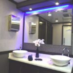 LUXURY RESTROOM TRAILER DOUBLE SINK FOR SALE