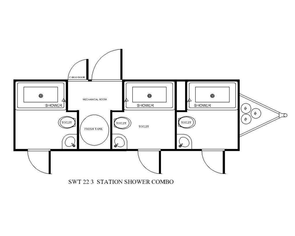 three station large shower combo floor plan