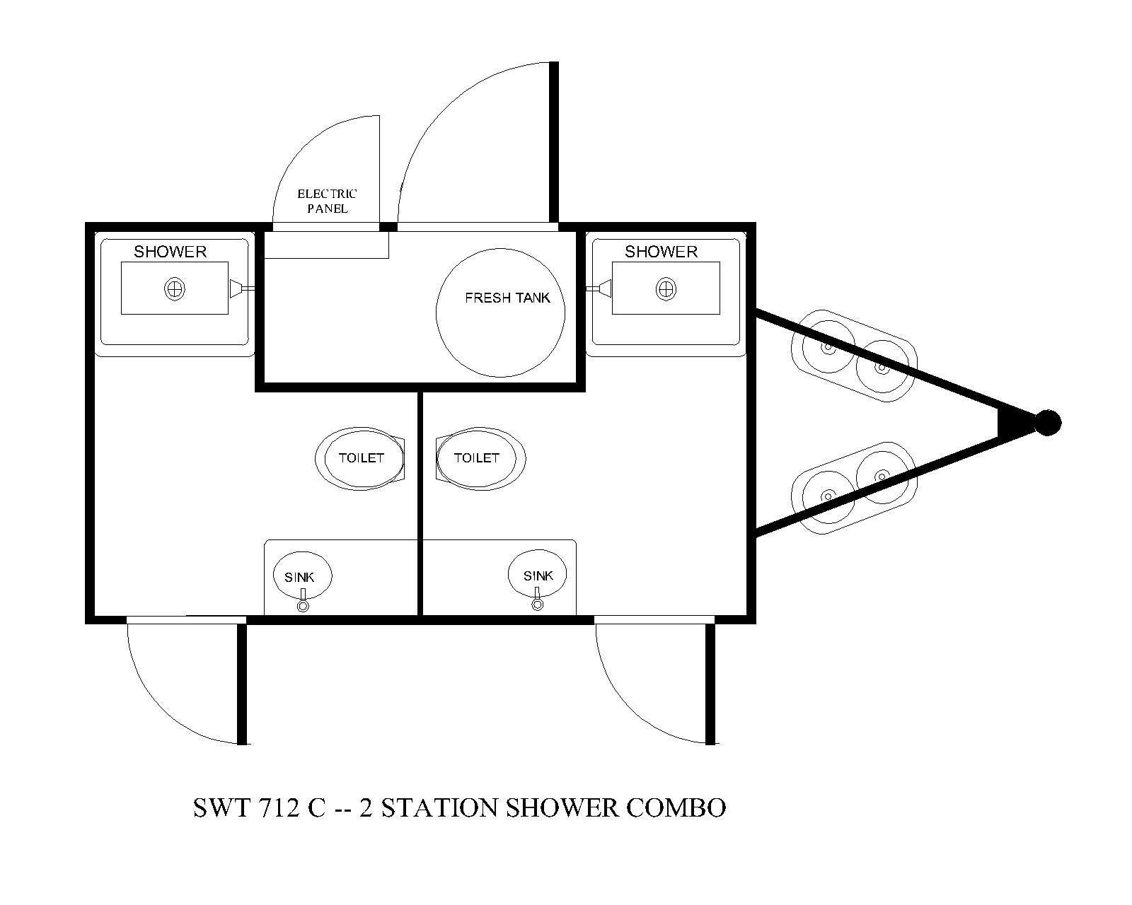 two station shower combo floor plan