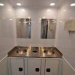 industrial portable restroom trailer stainless steel sink