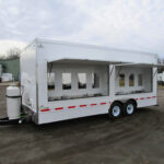 16 station hand washing trailer exterior