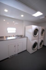 Laundry trailers interior
