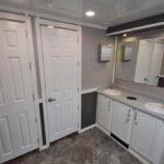 portable restroom trailer celebrity decor