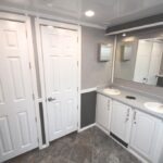 10 STATION RESTROOM TRAILER FOR SALE IN GREY DECOR