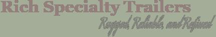 Rich Specialt Trailers logo in white