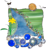 Window Hangings Blown Glass Cremation Art