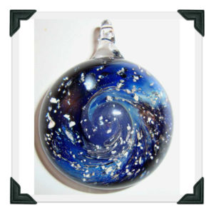 Cosmic pendant with Silver Fuming
