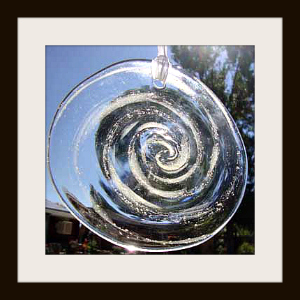 Blown Glass Rondel with Ashes