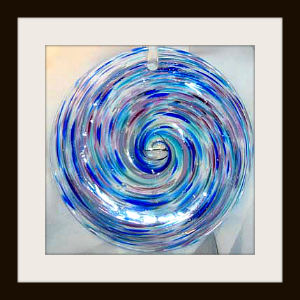 Rondel with Blue & Purple Tones