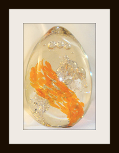 Graceful Ascent Egg with Orange