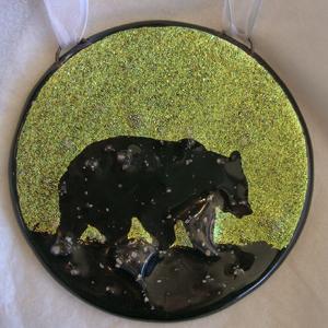 Fused Glass Bear