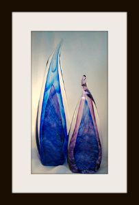 Blown Glass Flames Sculpture
