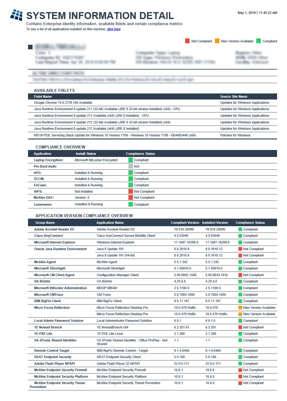 Non-Laptop Encryption Report