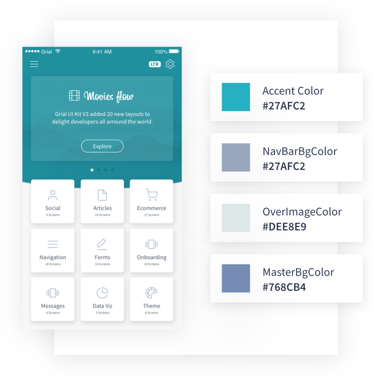 Customize Pages Grial UI Kit Xamarin.Forms XAML