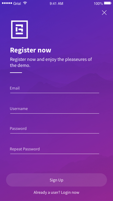 Sign Up Page Xamarin.Forms XAML