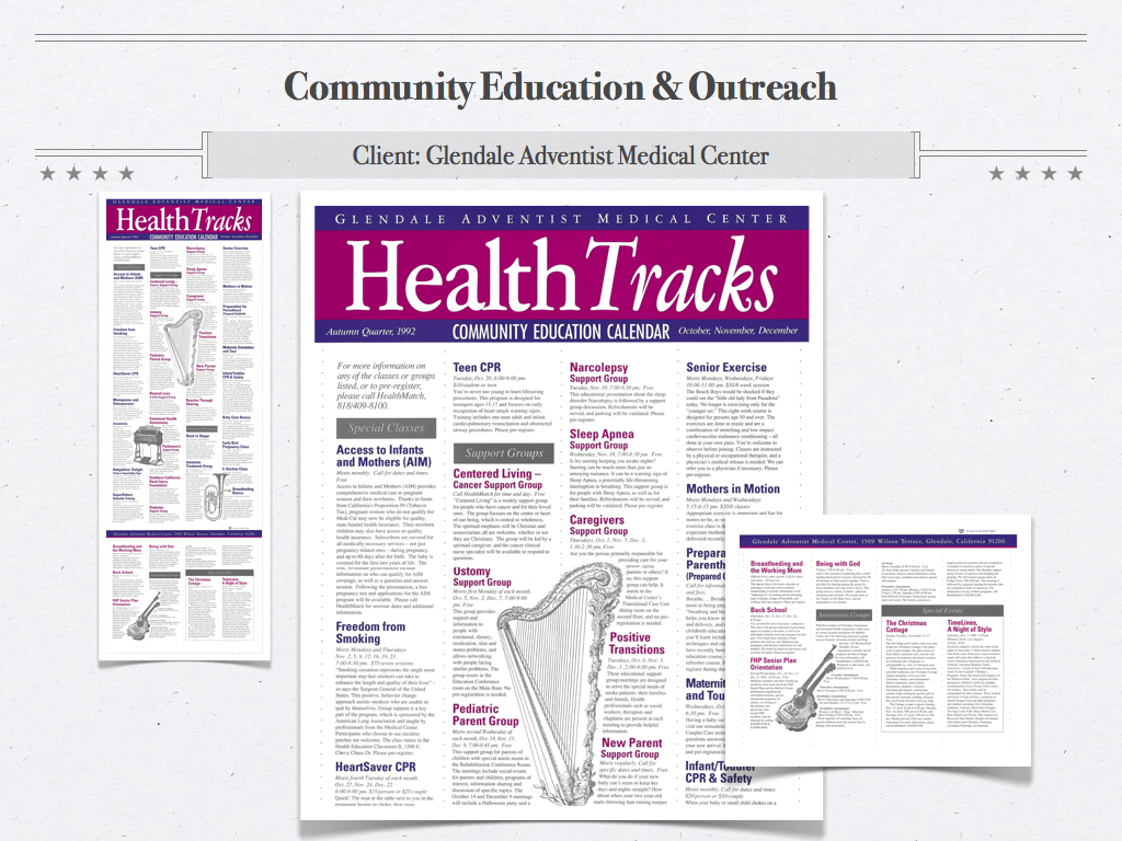 GAMC Health Tracks Community Calendar